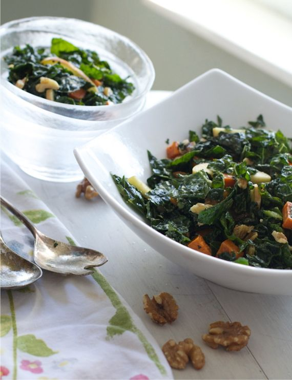 Kale & Apple Salad with Maple Cider Viniagrette by Angela Roberts