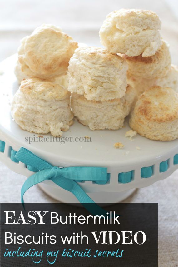 Biscuit Video and best homemade Southern biscuit recipe by Spinach Tiger