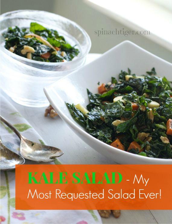 Kale & Apple Salad with Maple Cider Viniagrette by Angela Roberts