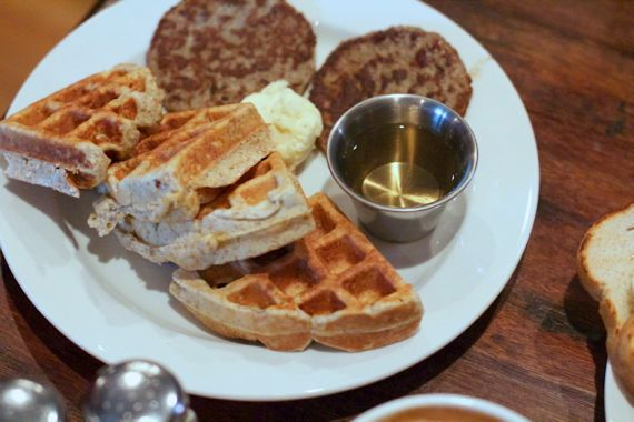 Waffles at Frothy Monkey