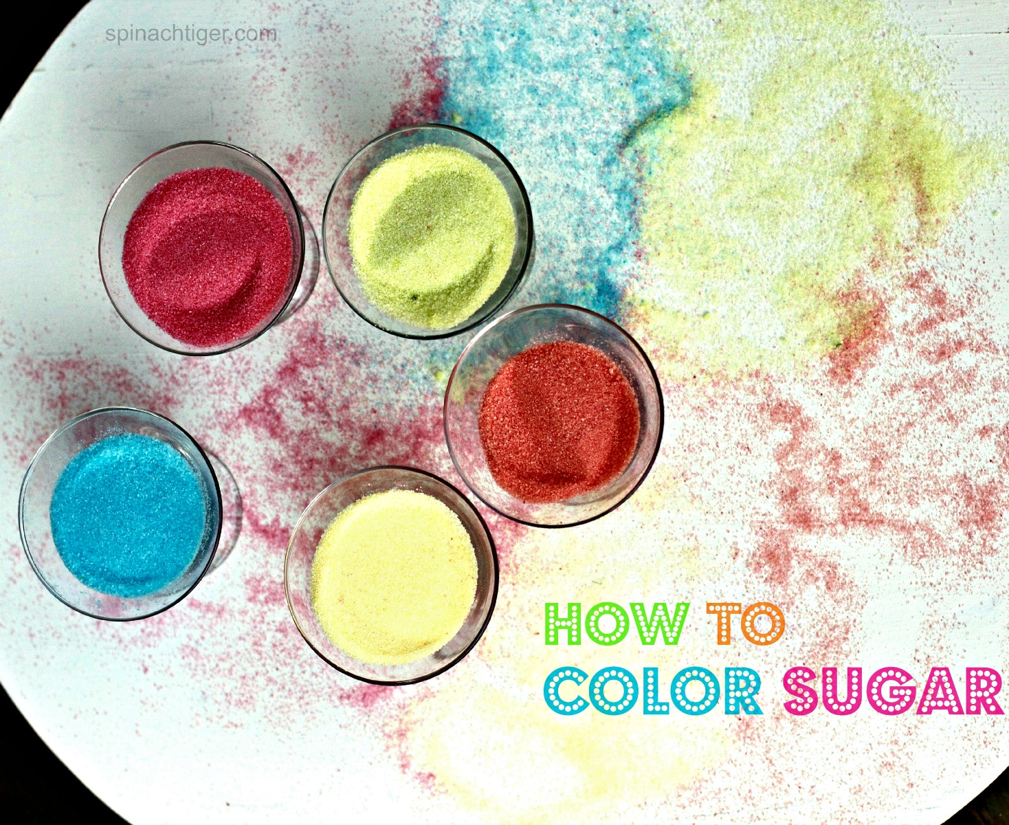 How to Color Sugar from Spinach Tiger