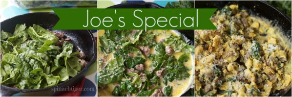 Joe's Special and How to Freeze Spinach by Angela Roberts