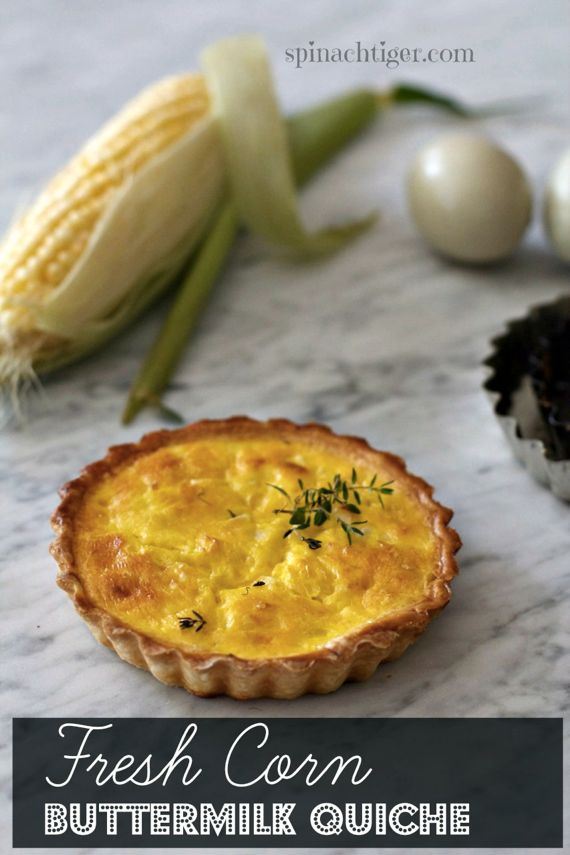 Fresh Corn off the Cob Buttermilk Quiche by Angela Roberts