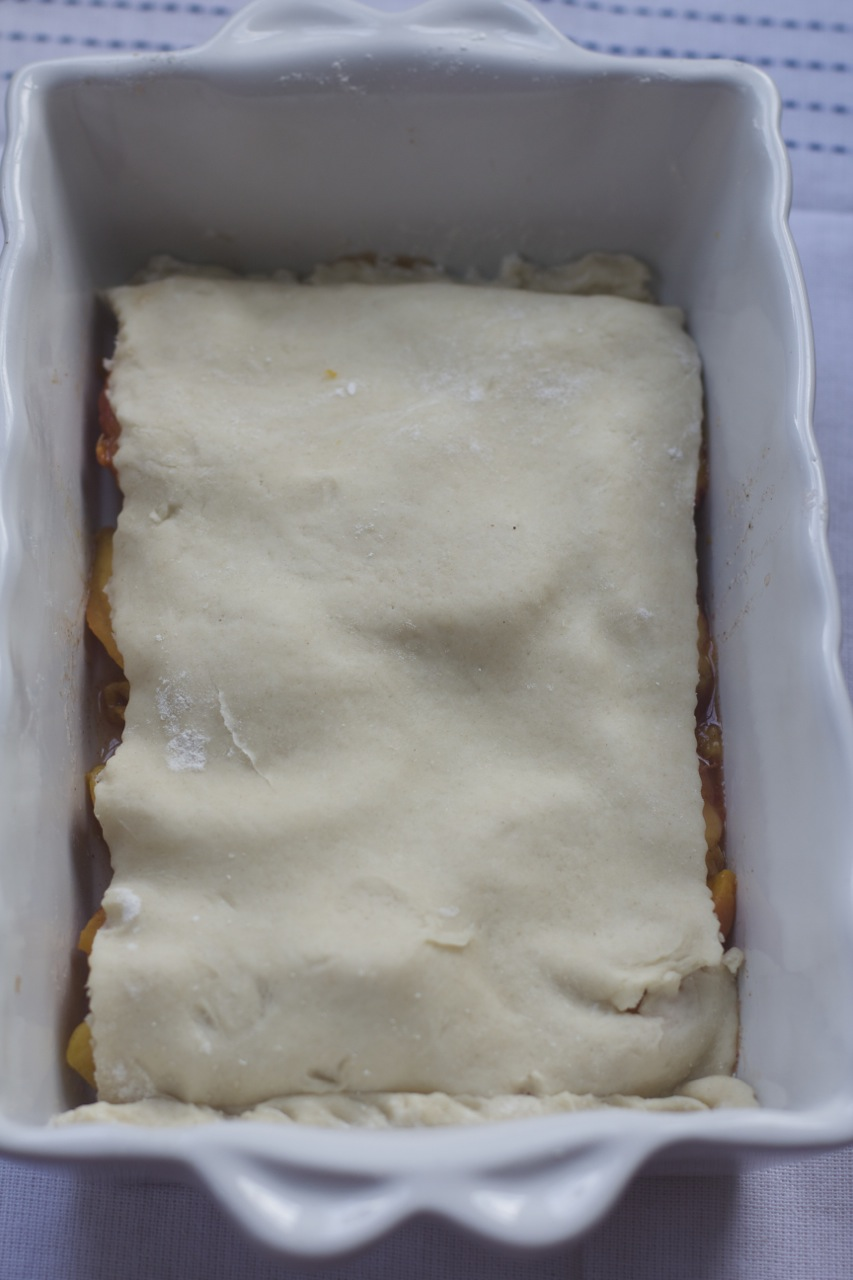 Double Crusted Old Fashioned Peach Cobbler by Angela Roberts