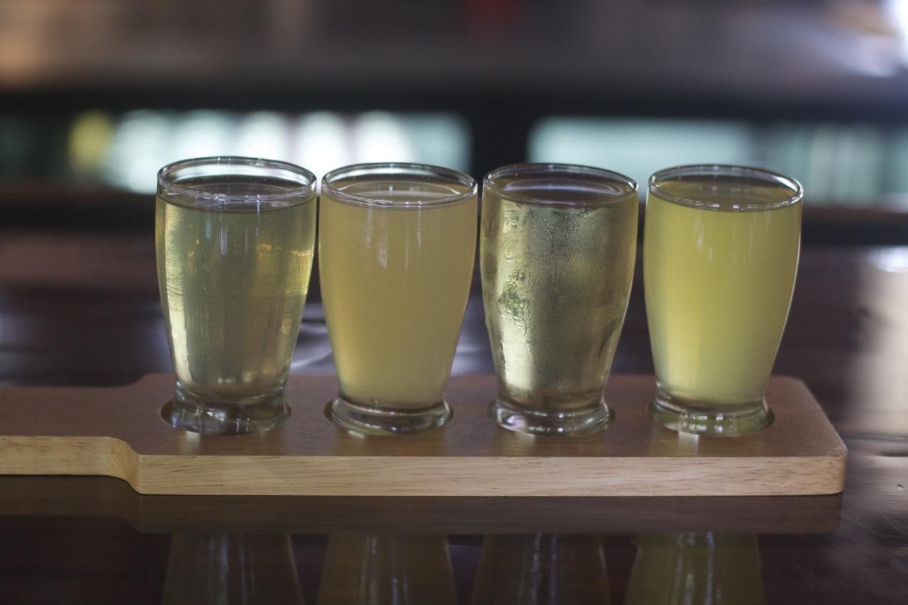 Hard Cider Flight at Urban Orchard by Angela Roberts