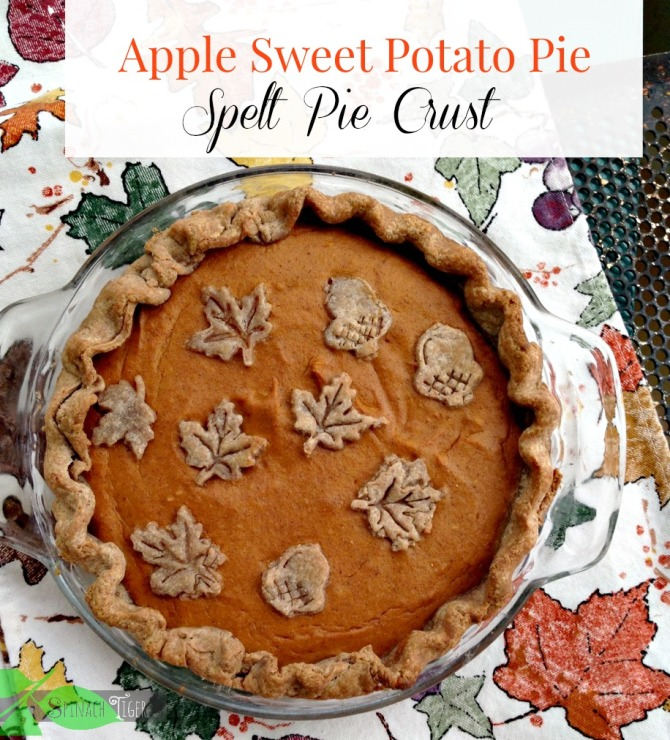 Best Apple Desserts: Apple Sweet Potato Pie from Spinach Tiger