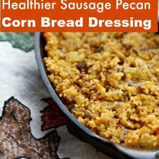 healthier sausage pecan cornbread dressing