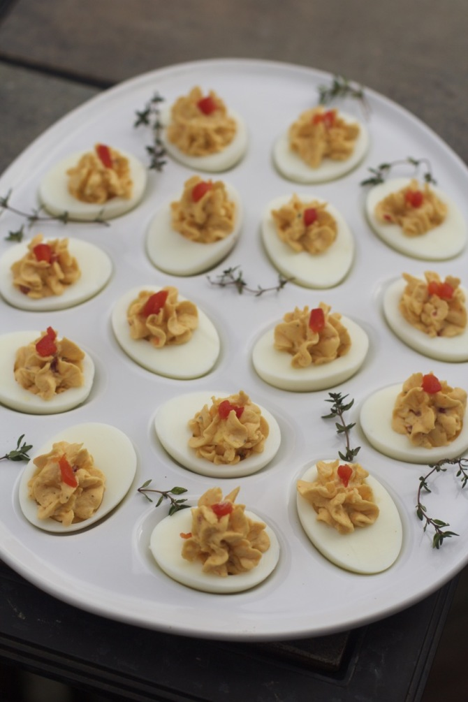Pimento Cheese Deviled Eggs by angela roberts