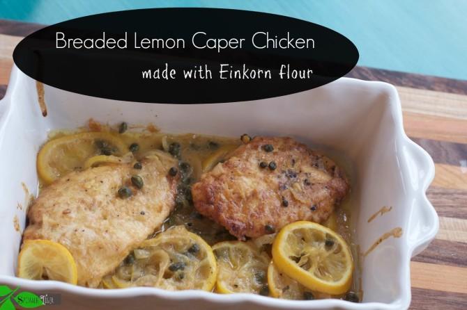 Breaded Lemon Caper Chicken by Angela Roberts