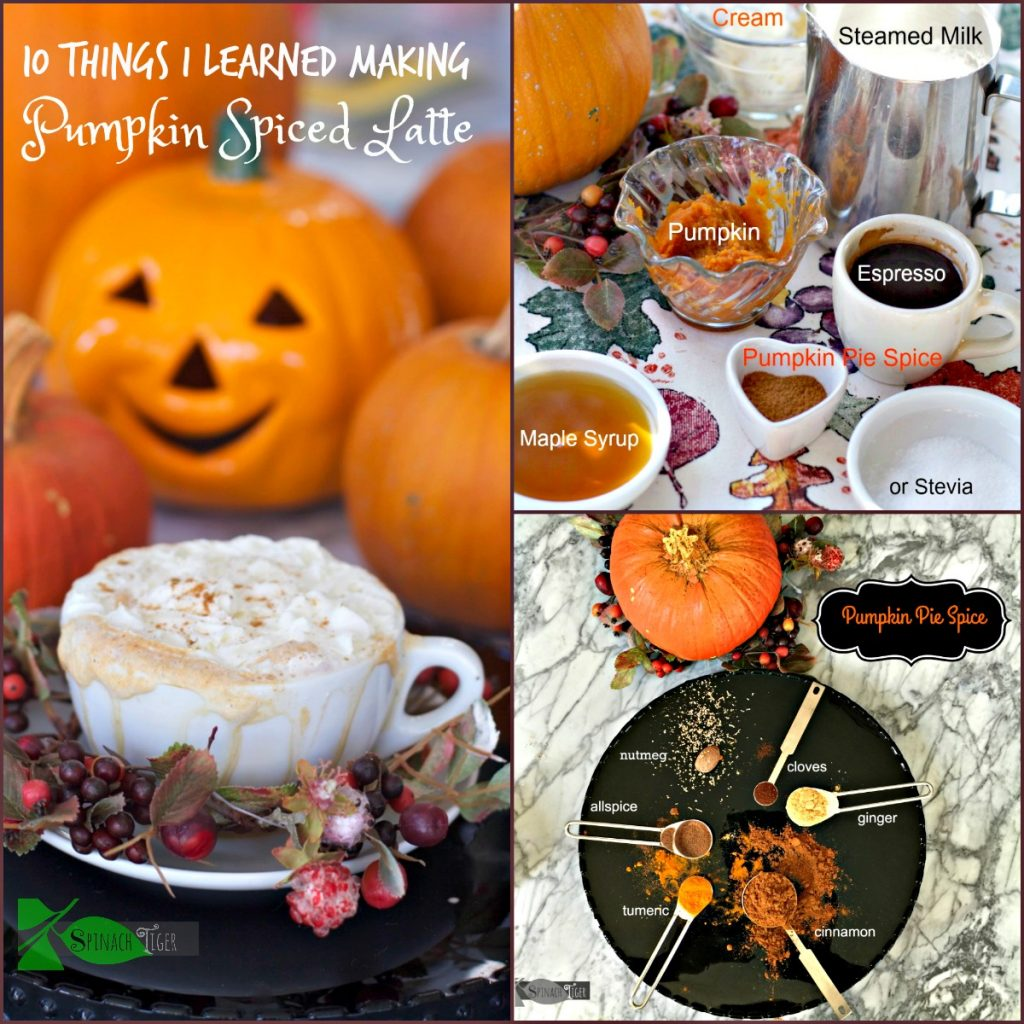 What I learned Making Pumpkin Spice Latte from Spinach Tiger
