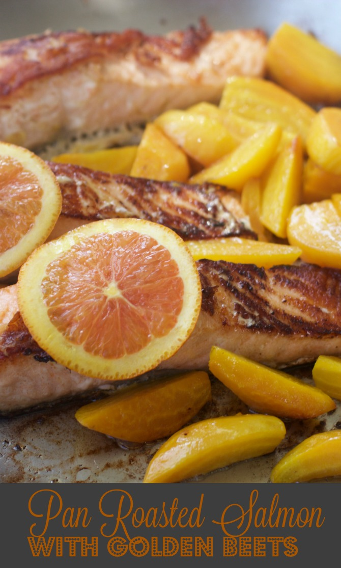 How to Prepare Salmon with Golden Beets from Spinach Tiger