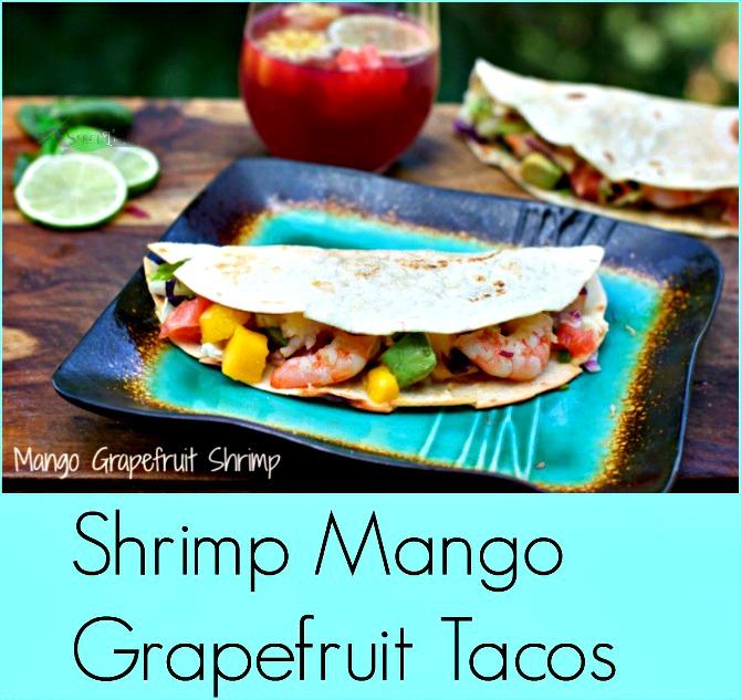 Shrimp Mango Tacos from Spinach Tiger