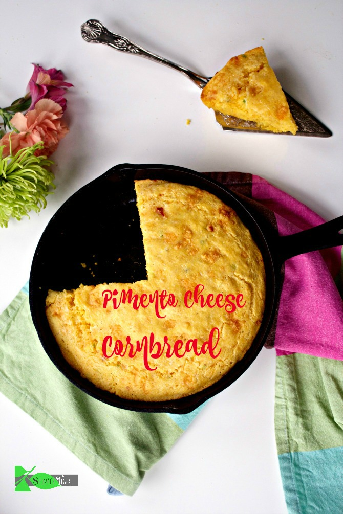 How to Make Pimento Cheese Cornbread from Spinach Tiger