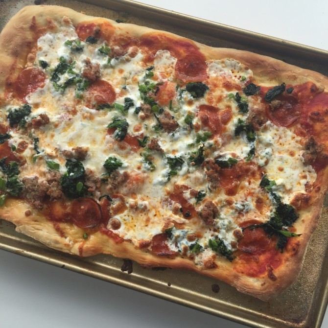 Broccoli Rabe Recipe with Pizza from Spinach Tiger
