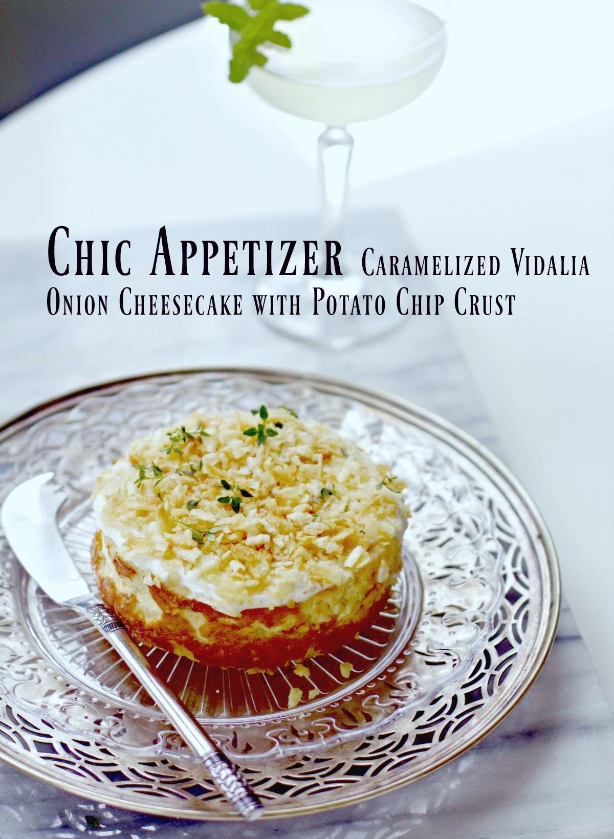 Vidalia Caramelized Onion Cheesecake Appetizer
