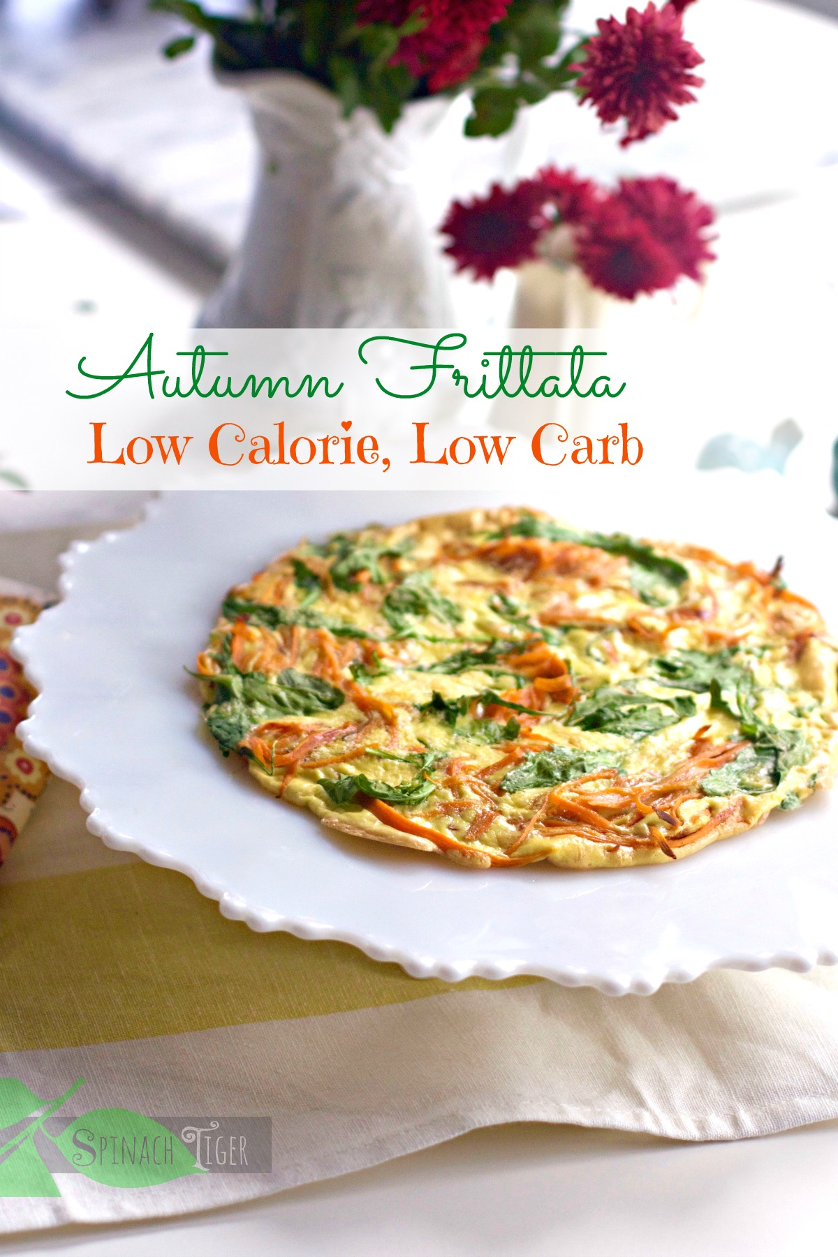How to make a Sweet Potato Frittata for One by Angela Roberts