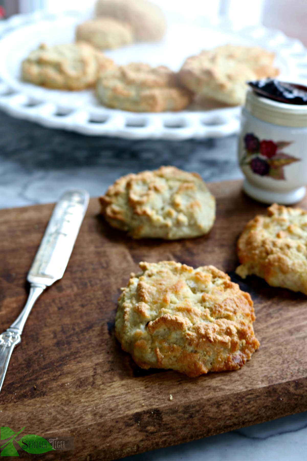Low Carb Southern Grain Free Biscuits from Spinach Tiger