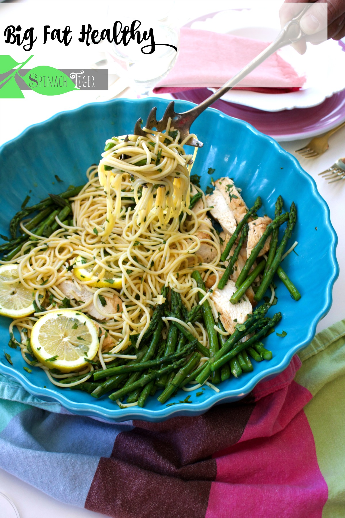 Chicken Asparagus Pasta, Healthy Chicken Pasta Recipes from Spinach Tiger