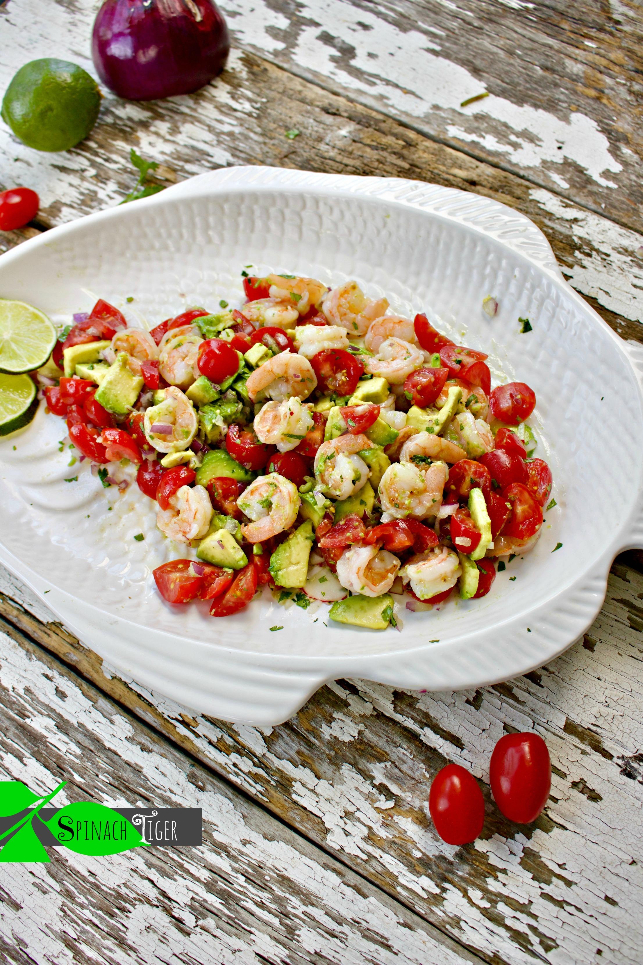 Low Carb Dinner Recipes : Shrimp with Avocado