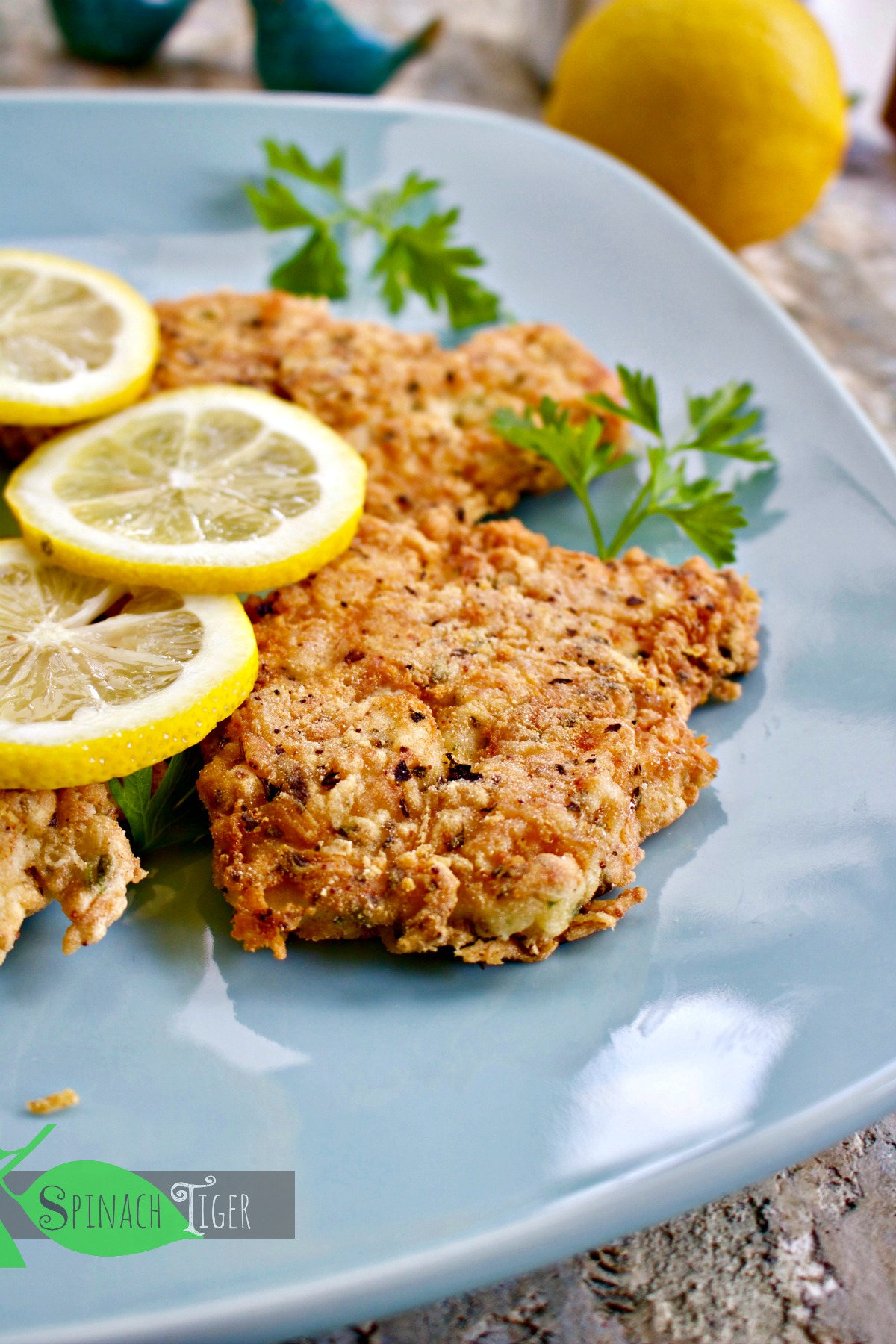 How to Make gluten free Italian Chicken Cutlets from Spinach Tiger