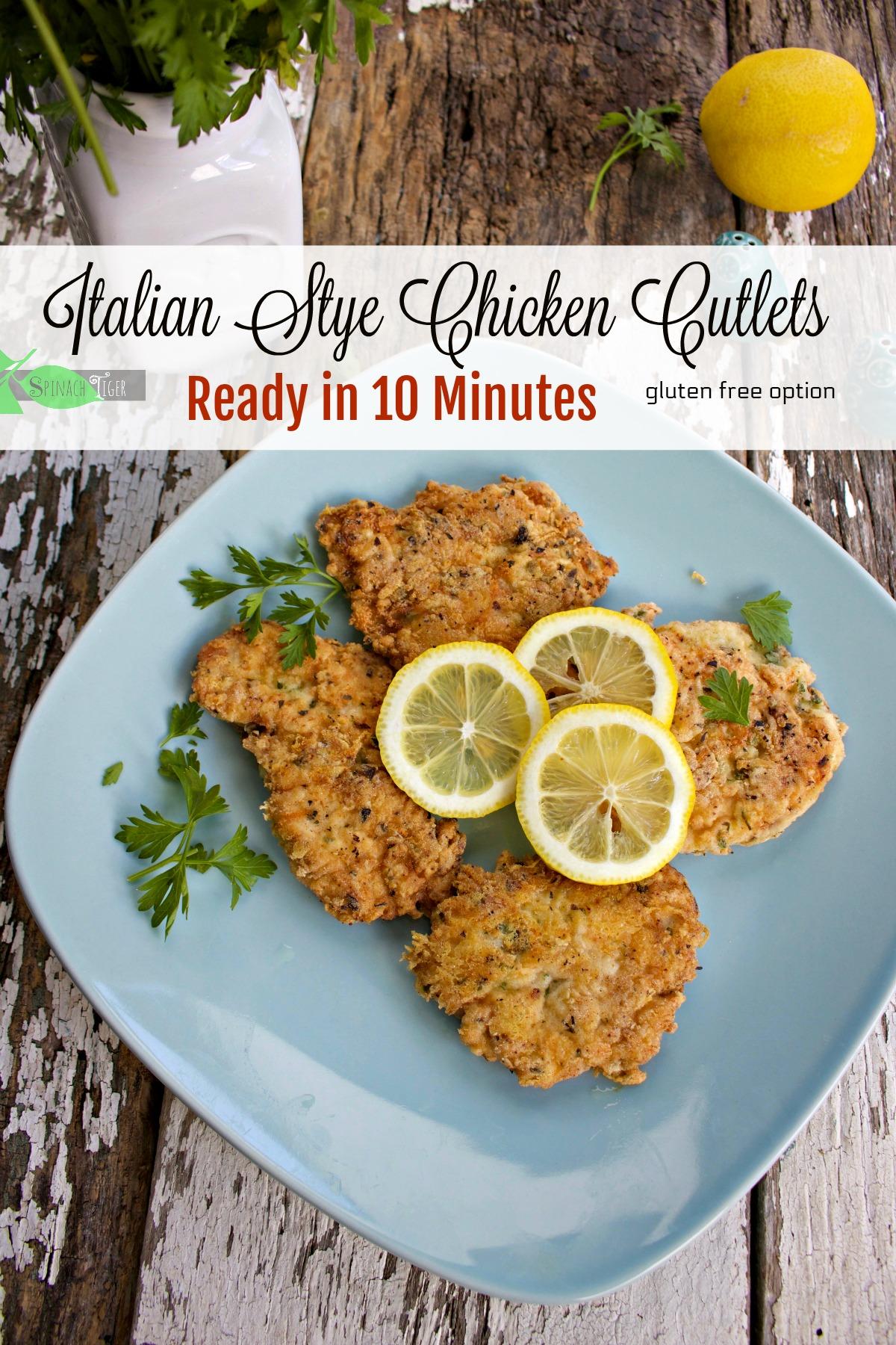 Gluten free chicken cutlets in ten minutes. via @angelaroberts