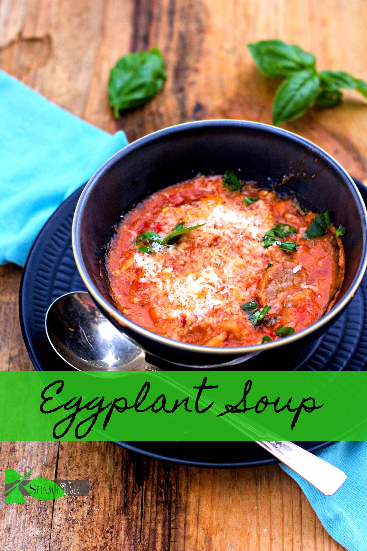 Eggplant Soup a Simple Eggplant Recipe from Spinach TIger