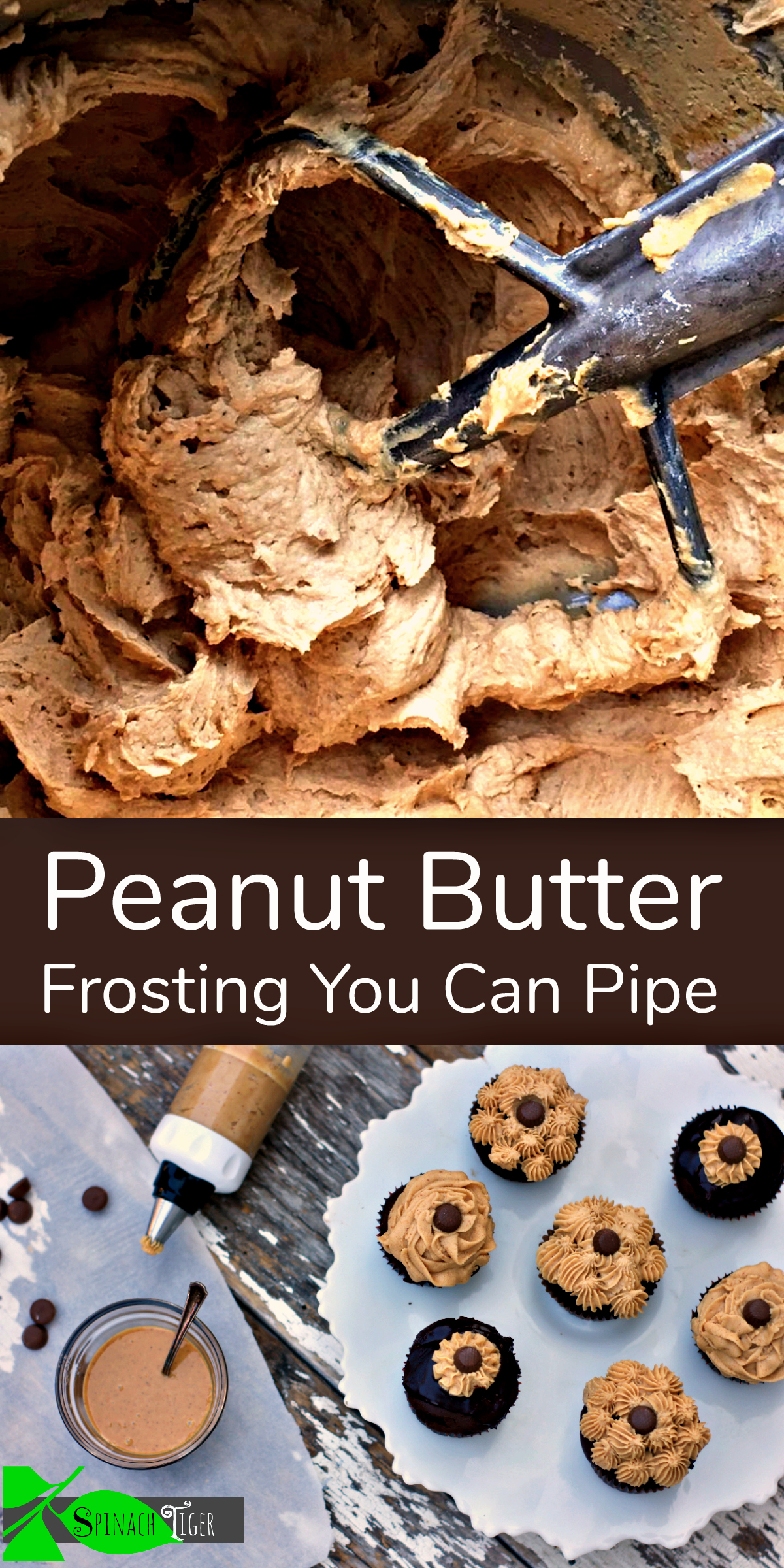 Peanut Butter Frosting Recipes You Can PIpe from Spinach Tiger
