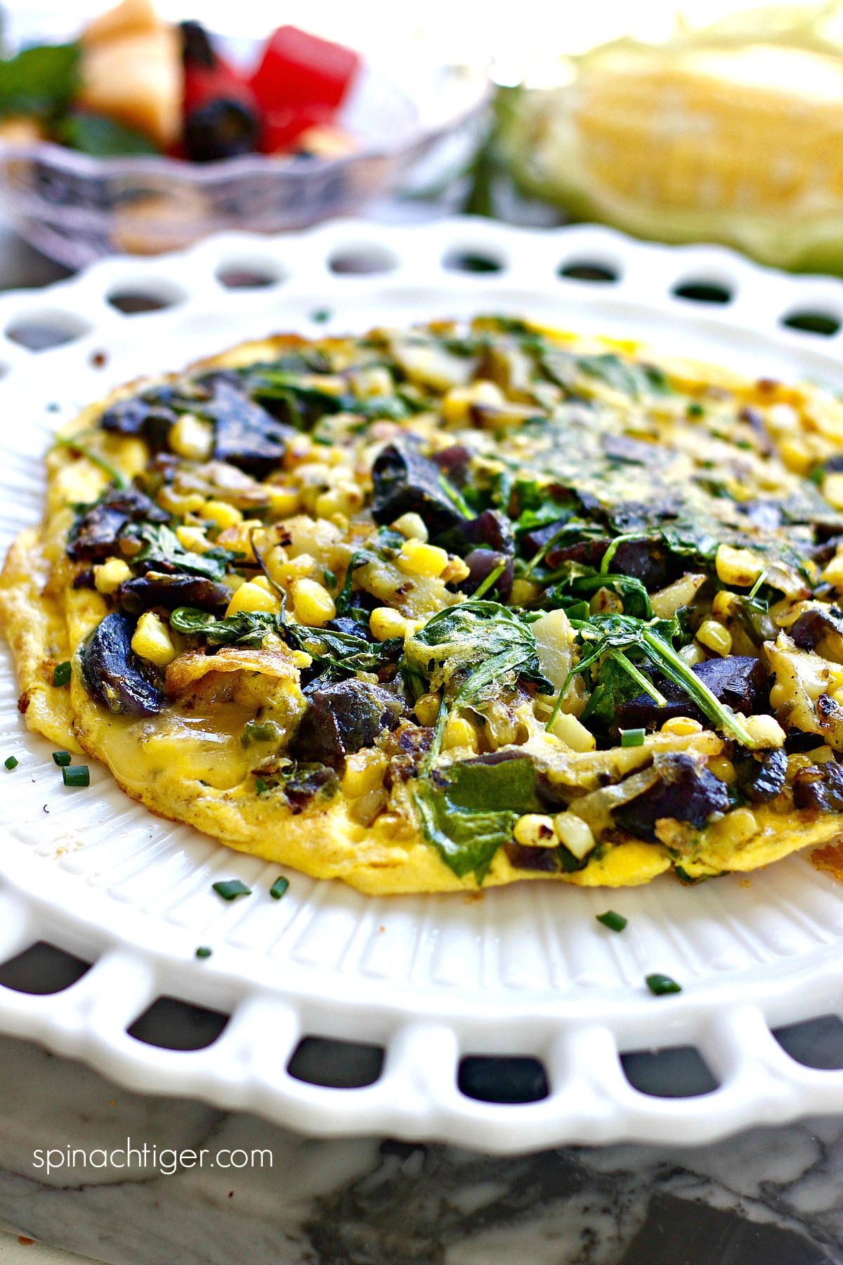 How to make Healthy Frittata stove top from Spinach Tiger