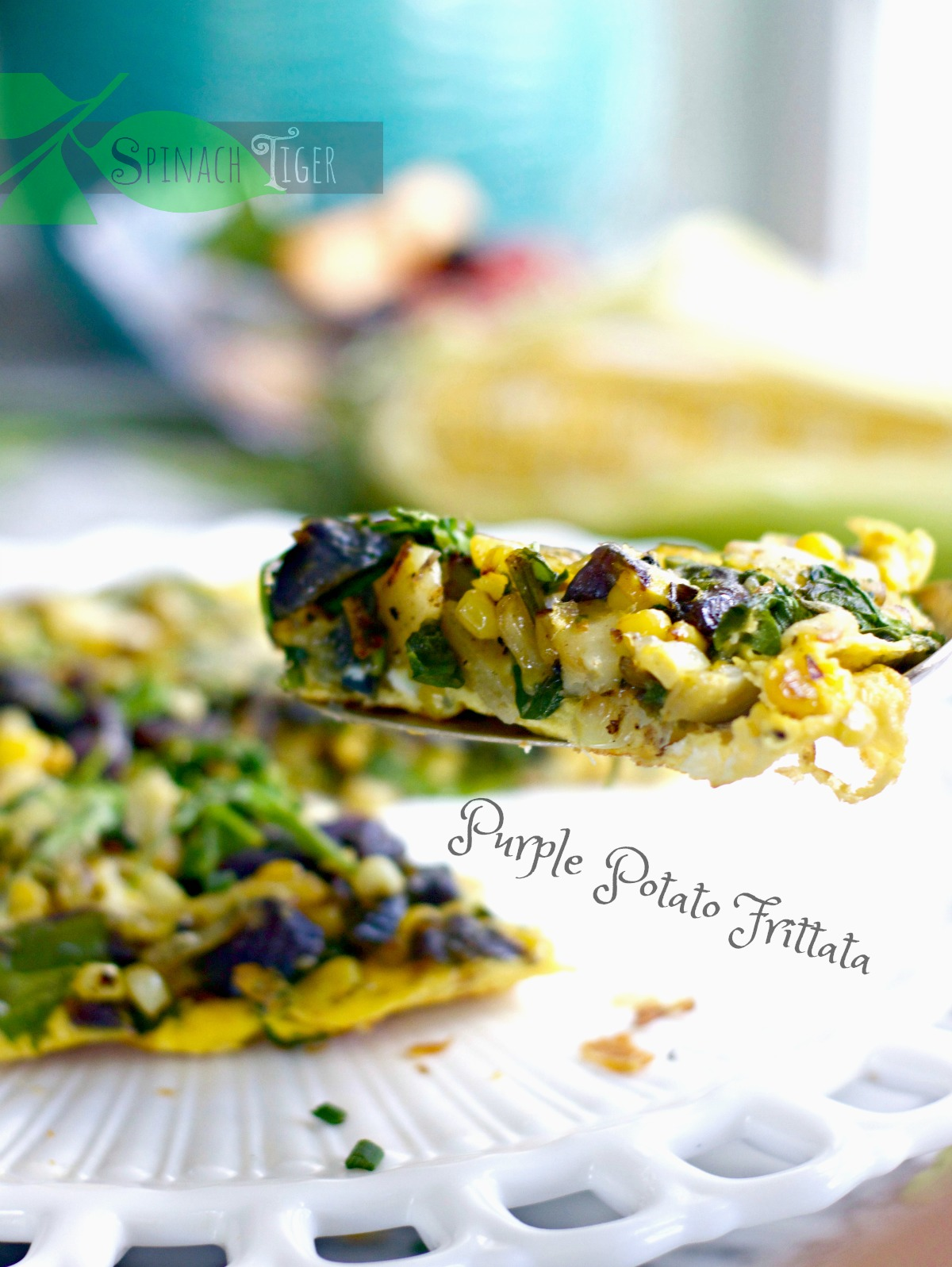 Healthy Frittata with Purple Potatoes From Spinach Tiger