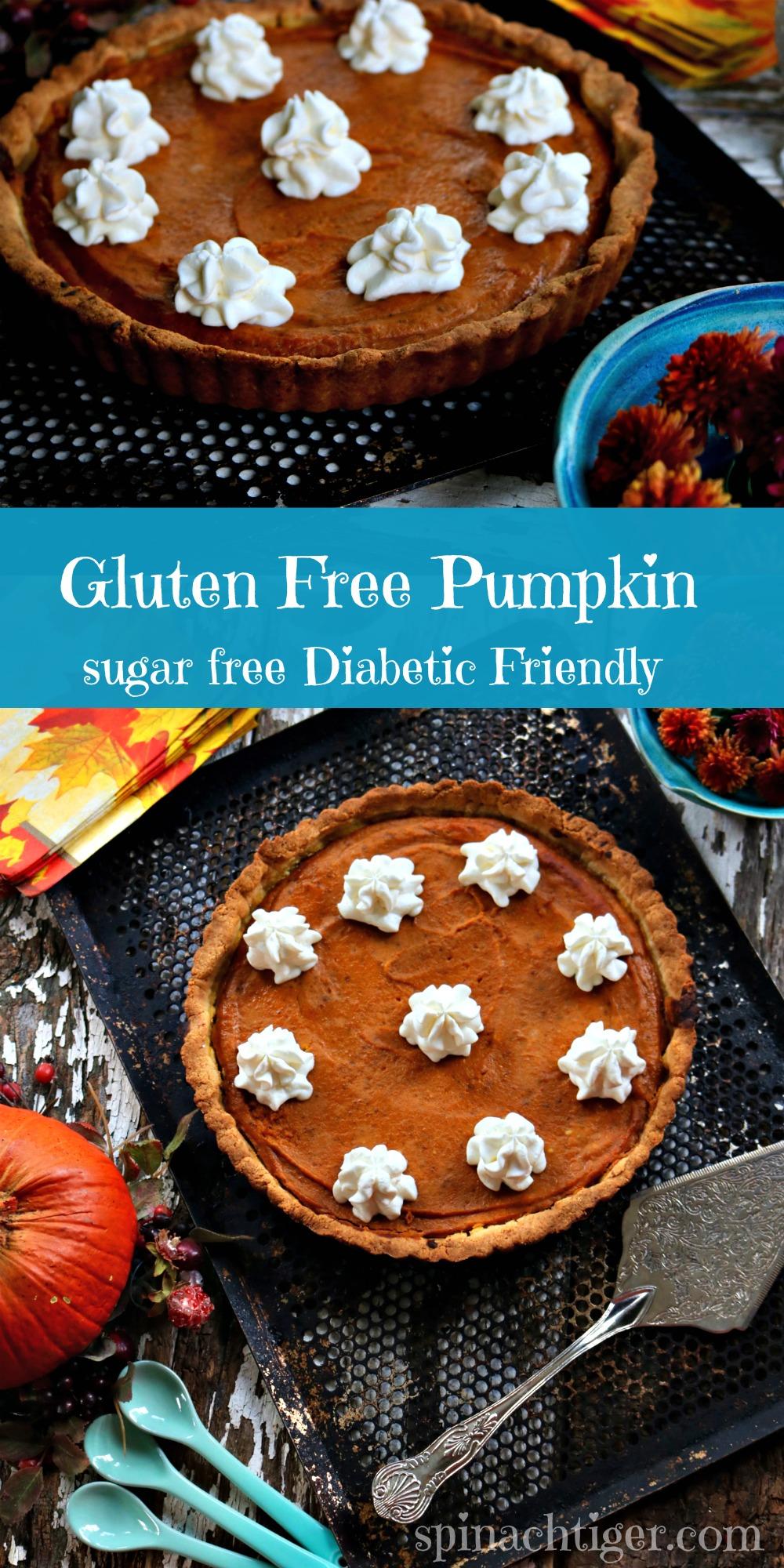 Gluten Free Pumpkin Pie Low Carb Pumpkin PIe from Spinach Tiger