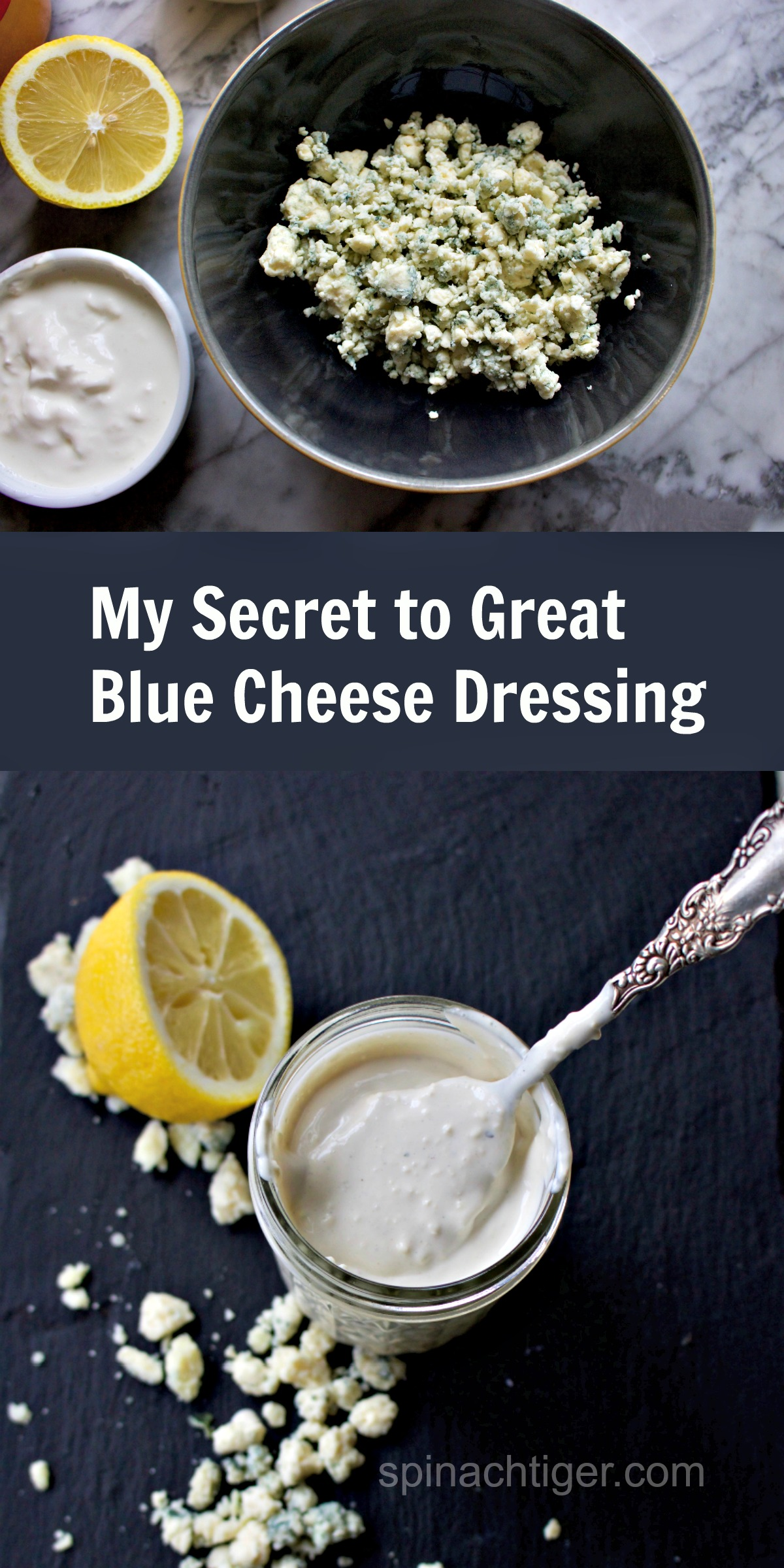 Secret to best blue cheese dressing from spinach tiger