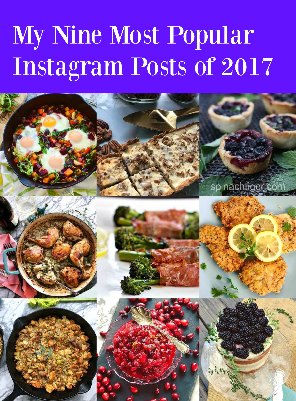 My most popular instagram recipe posts of 2017 from Spinach Tiger