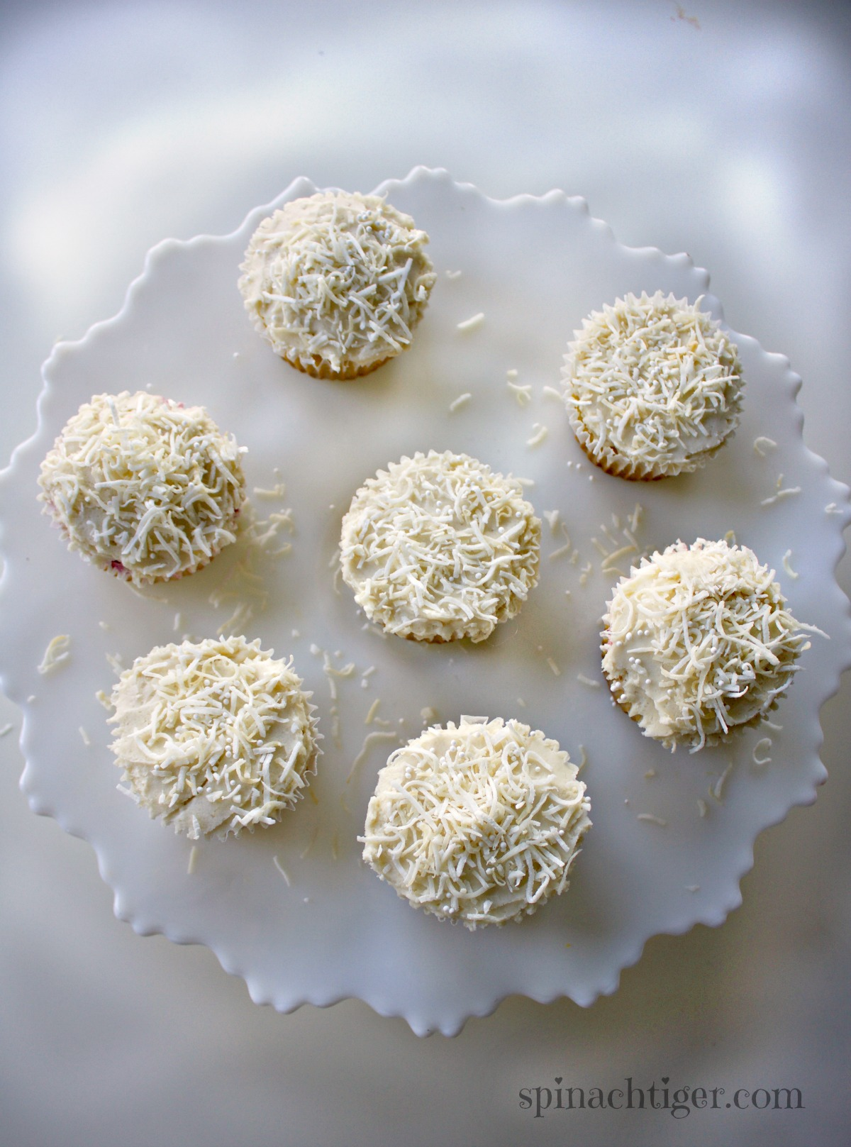Make the Best Grain Free Coconut Cupcakes using Swerve, Coconut Flour from Spinach Tiger
