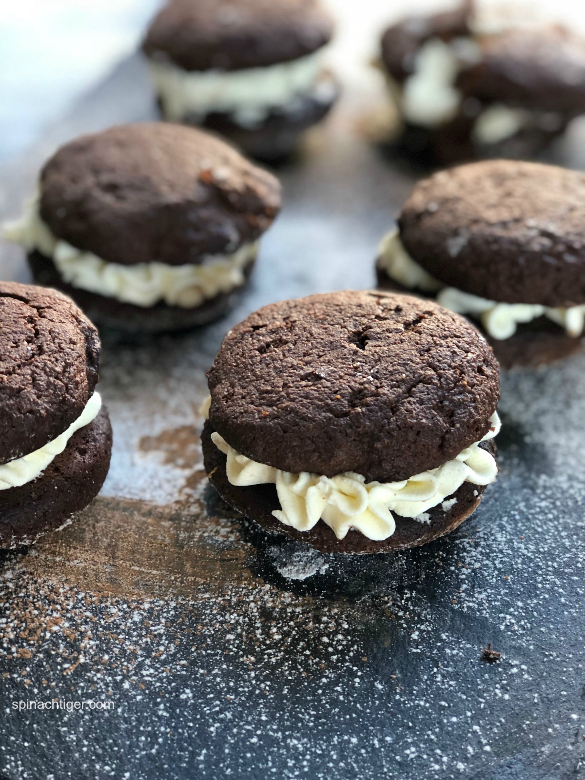 Grain Free Chocolate Whoopie Pie, Sugar Free from Spinach Tiger