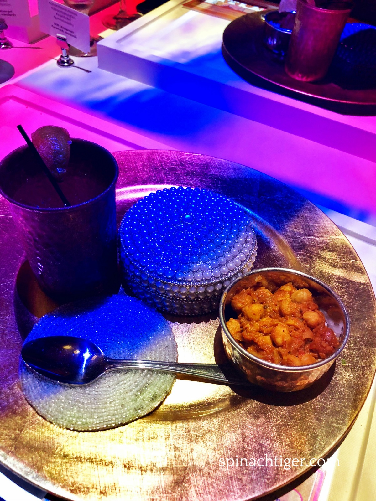 Chana Masala at Dinner Time Stories from Spinach Tiger