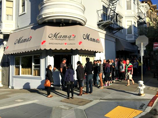 San Francisco in 48 Hours. Breakfast at Mama's on Washington Square