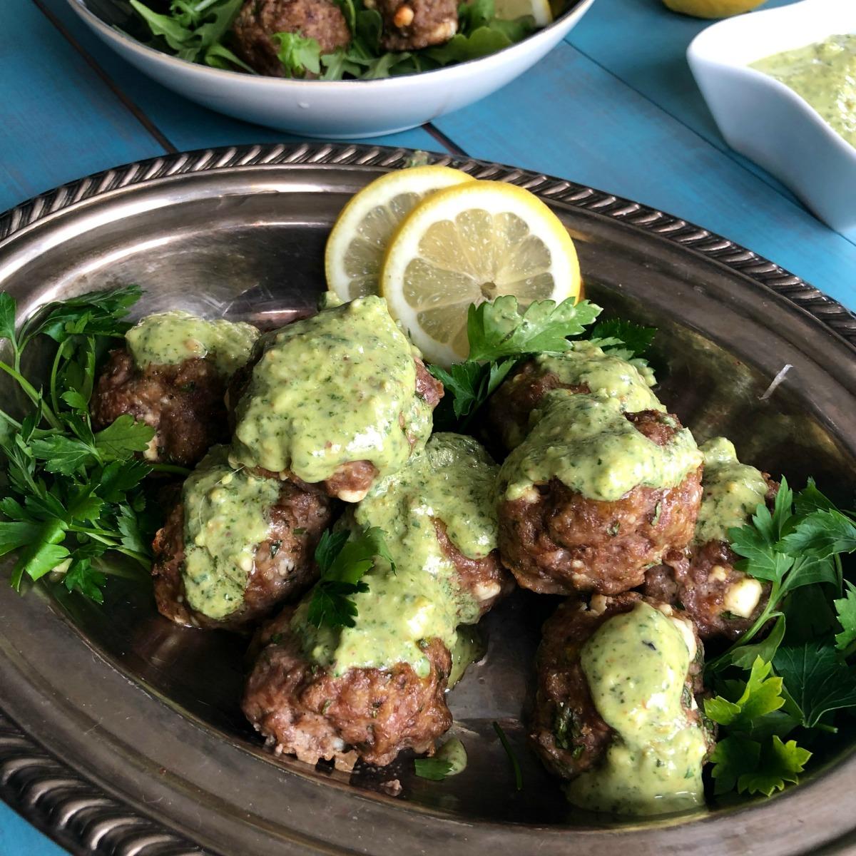 Greek Feta Lamb Meatballs