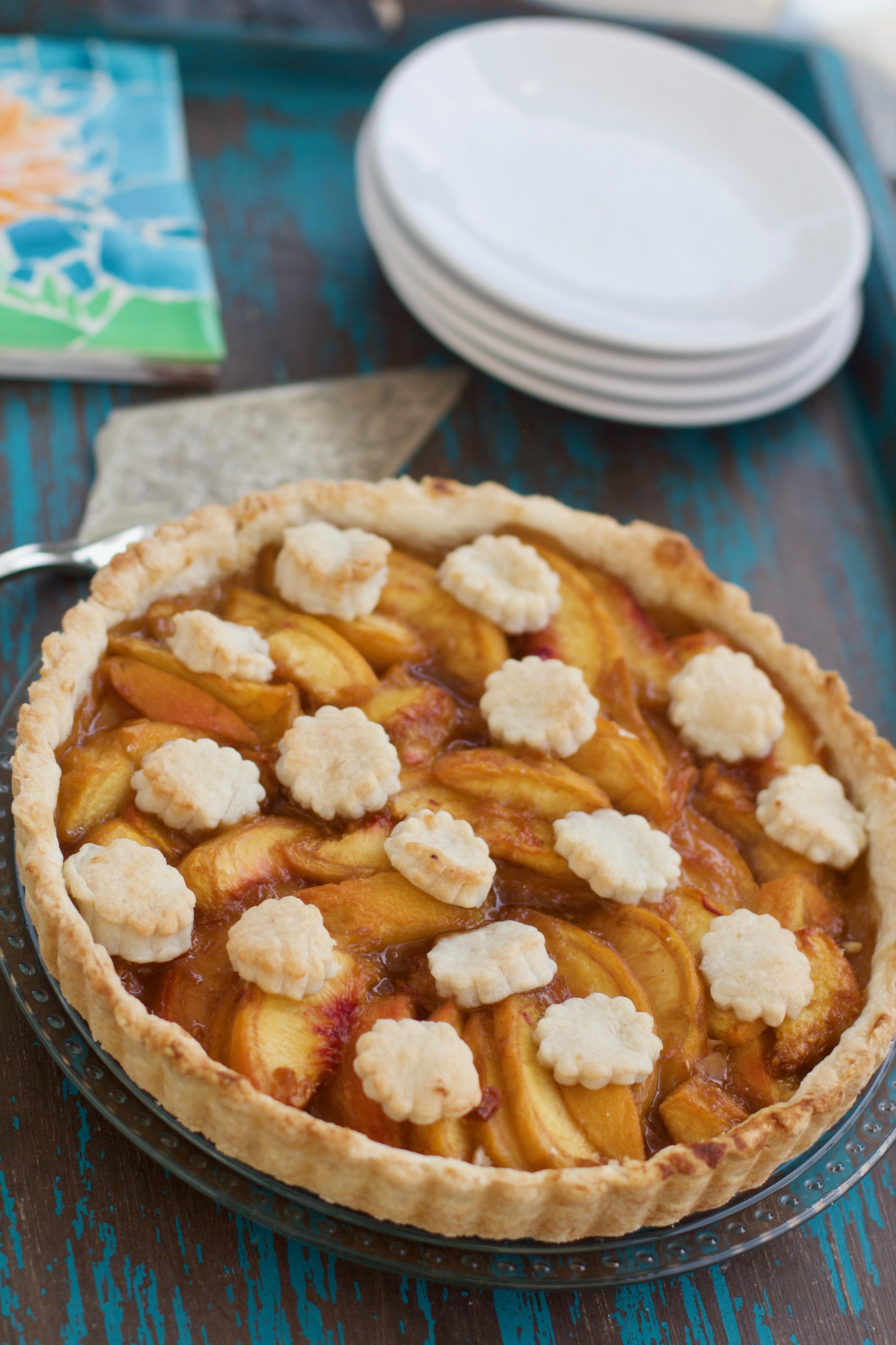 Gluten Free Peach Tart from Spinach TIger