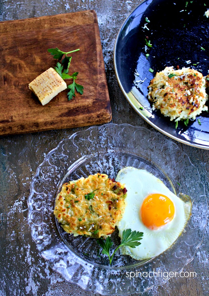 How to Make Risotto Cakes for Breakfast from Spinach Tiger #breakfast #risottocakes