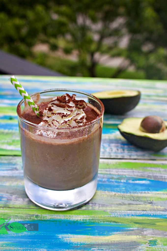 Low Carb Chocolate Smoothie with Avocado from Spinach TIger