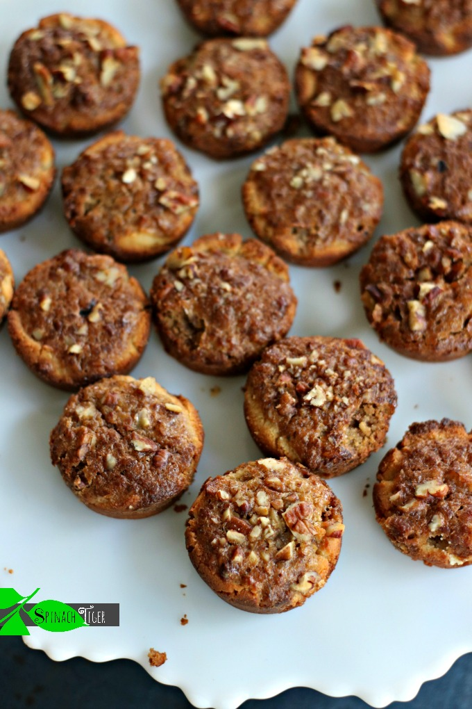 Low Carb Grain Free Pecan Tassies from Spinach Tiger #paleo #christmas #cookie #pecan #lowcarb #grainfree #keto