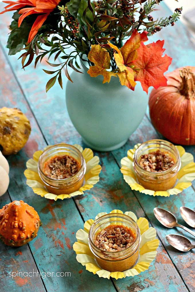 Keto crustless pumpkin pie cups from Spinach Tiger