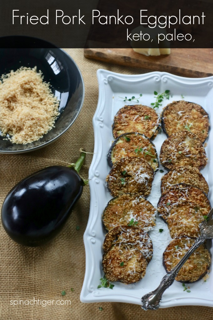 Keto Fried Eggplant with Pork Panko from Spinach Tiger