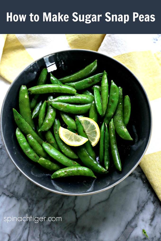 How to Make Sugar Snap Peas, Easy recipe from Spinach Tiger