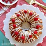 Keto Raspberry White Chocolate Bundt Cake