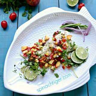 Peach Salsa Sable Fish
