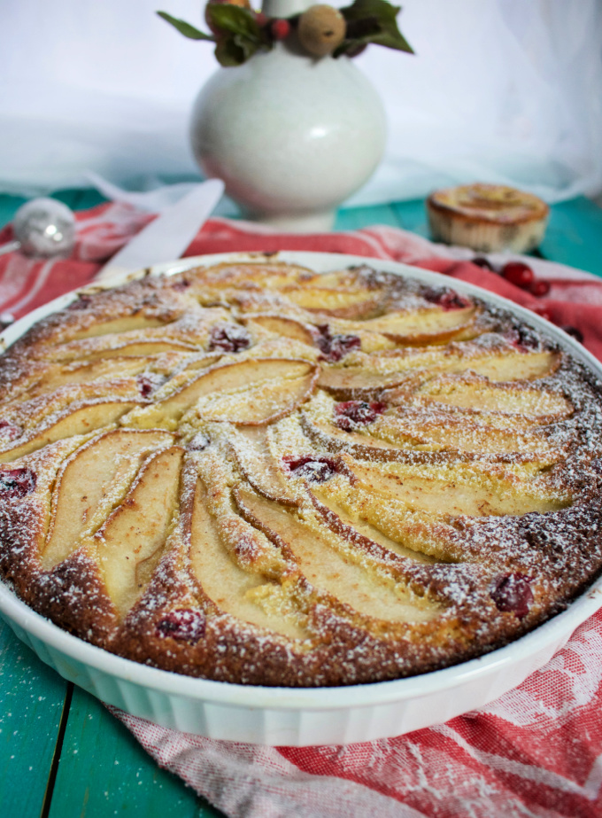 Low Carb Italian Pear Cake