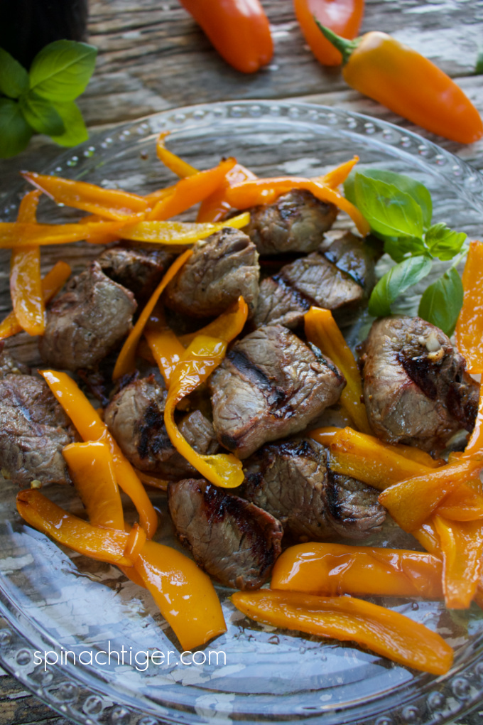How to Cook Steak Tips on the Grill from Spinach Tiger
