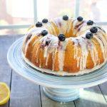 Keto Lemon Blueberry Bundt Cake