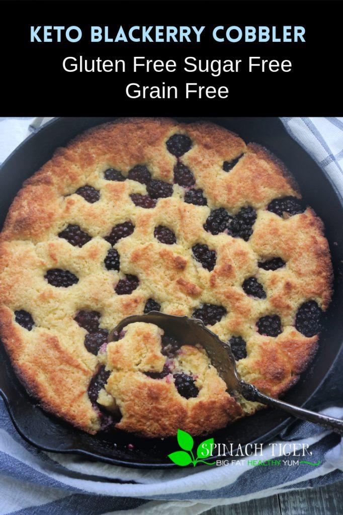 Keto Blackberry Cobble